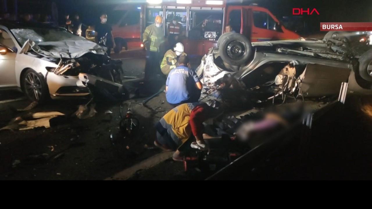 Bursa'da feci kaza: 4 ölü, 6 yaralı