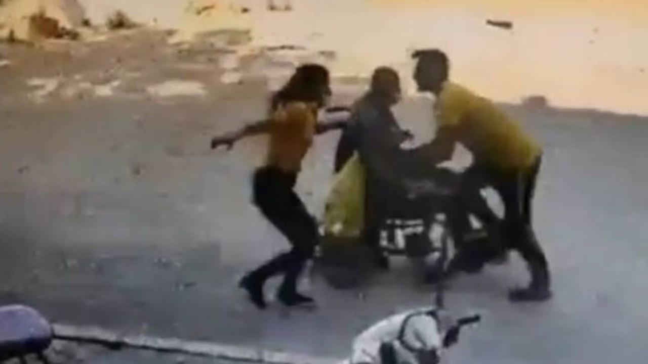 Tekerlekli sandalyedeki adamı böyle kurtardı