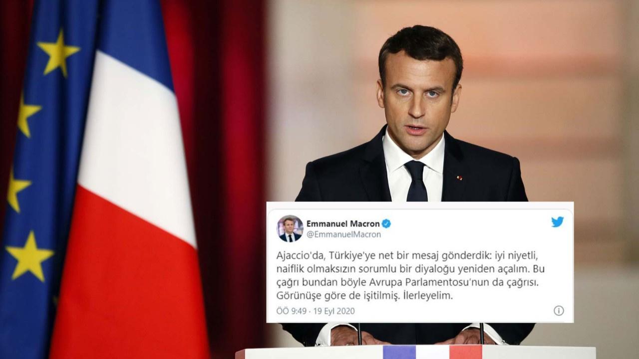 Macron'dan Türkçe Doğu Akdeniz mesajı