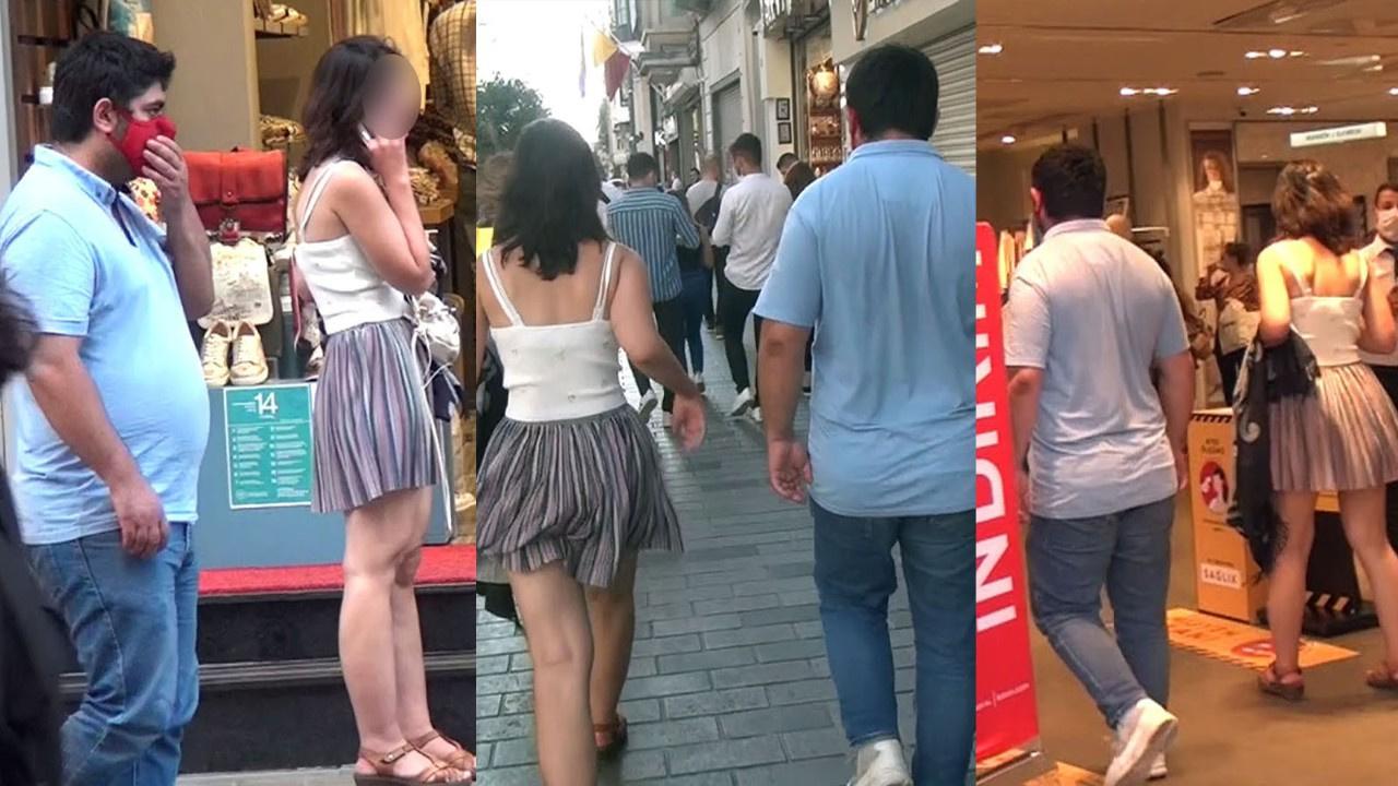 Genç kadını adım adım takip etti! Yakalandı!