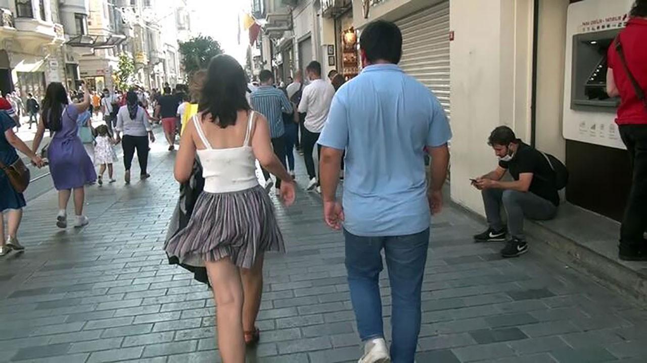 Kızın zor anları Adam kızı, polis adamı takip etti