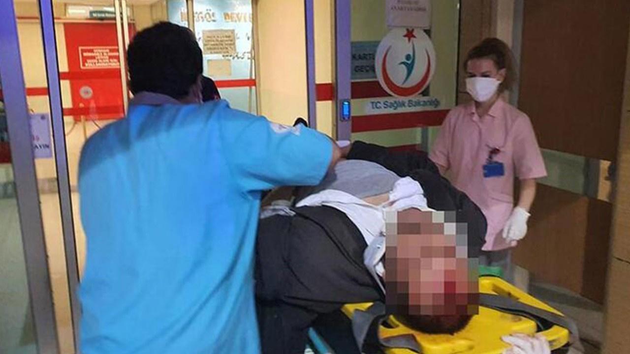 Feci kaza! Motosiklet sürücüsü ağır yaralandı