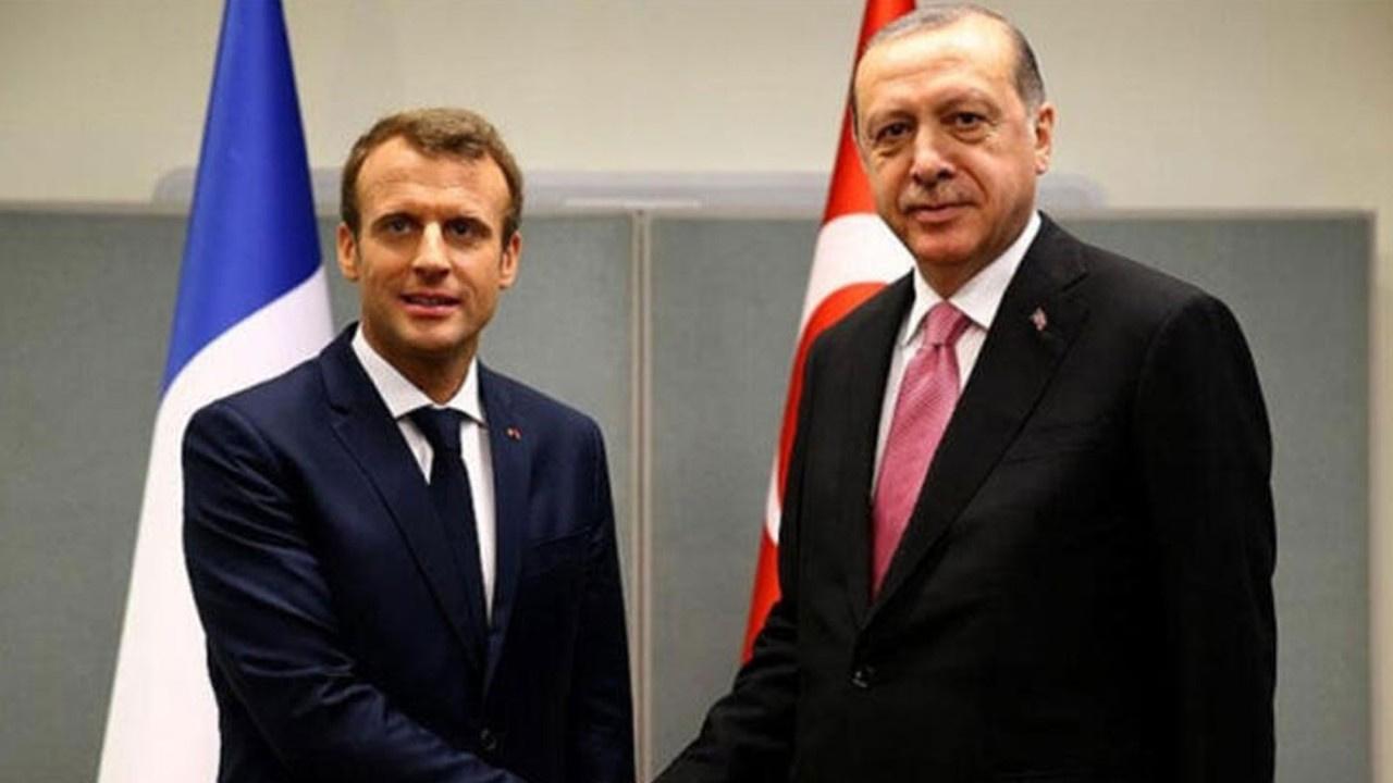 Erdoğan ve Macron görüştü