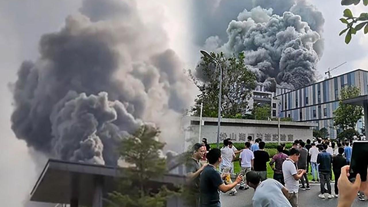 Çin'de Huawei laboratuvarında yangın!