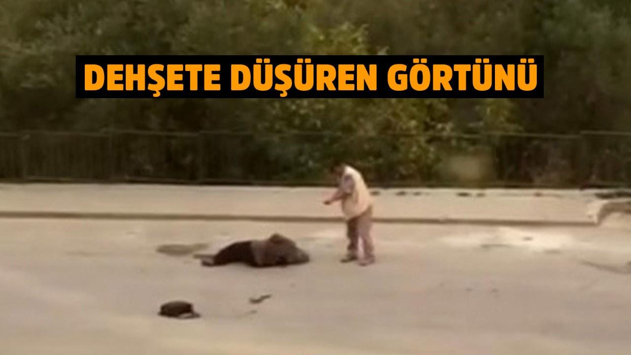 Eşini sokak ortasında böyle vurdu!