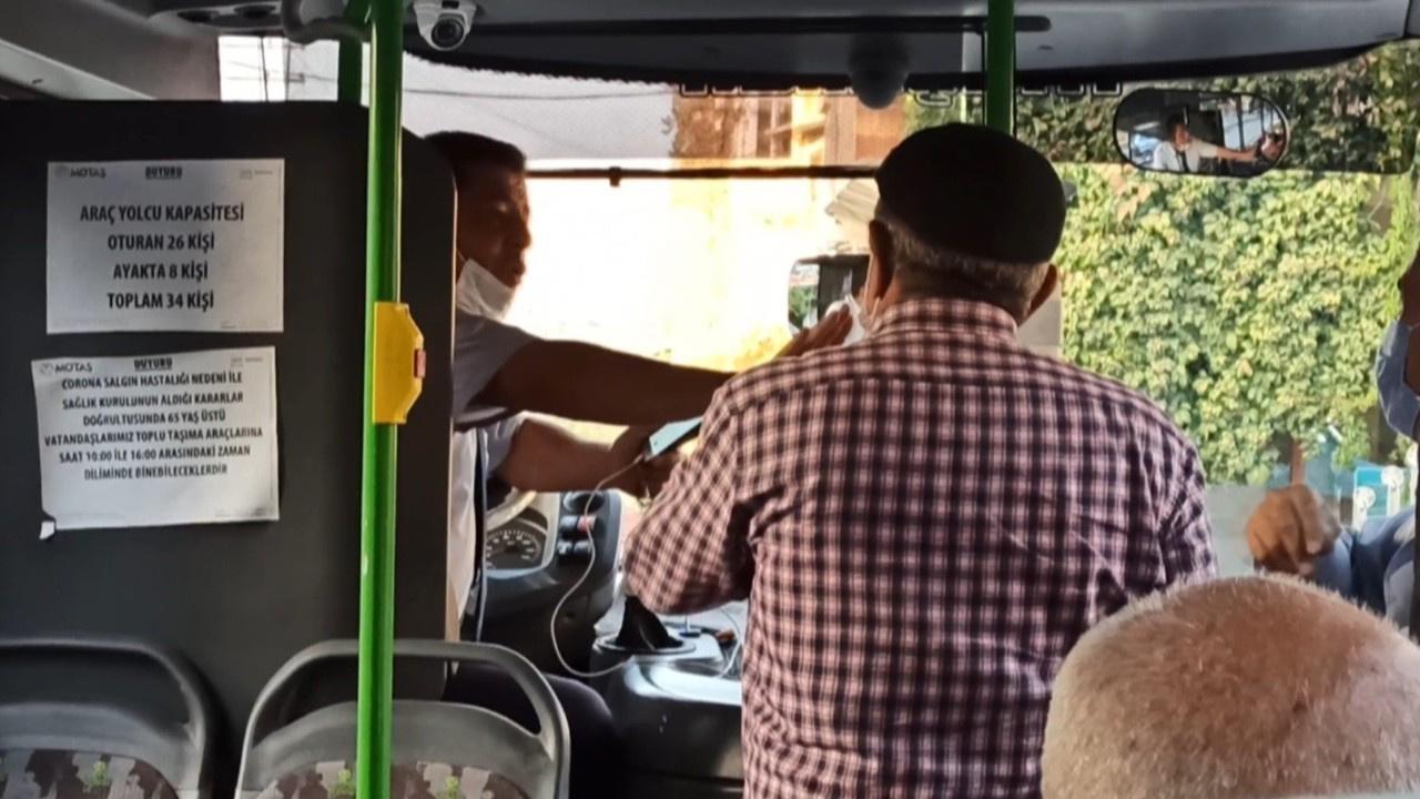 Otobüste ayakta yolcu taşımama tartışması
