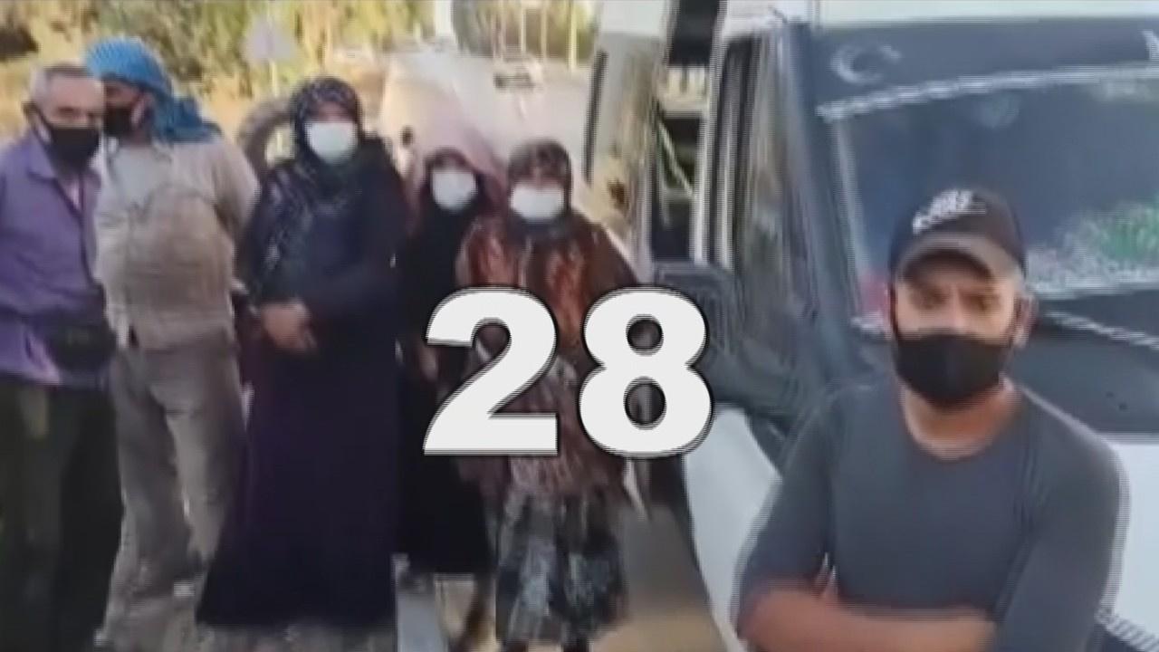 14 kişilik minibüsten 28 kişi çıktı