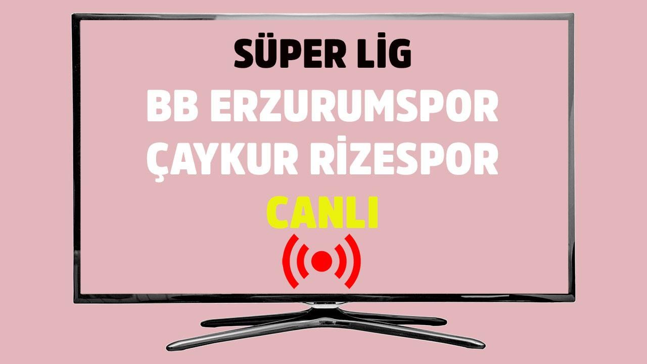 BB Erzurumspor - Rizespor CANLI