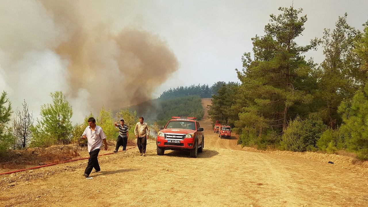 Kahramanmaraş'ta 4 ayrı noktada yangın çıktı