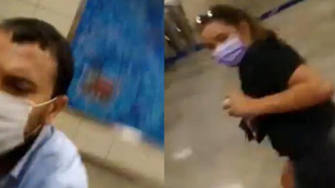 Metroda baba ve kızına şiddet iddiası!