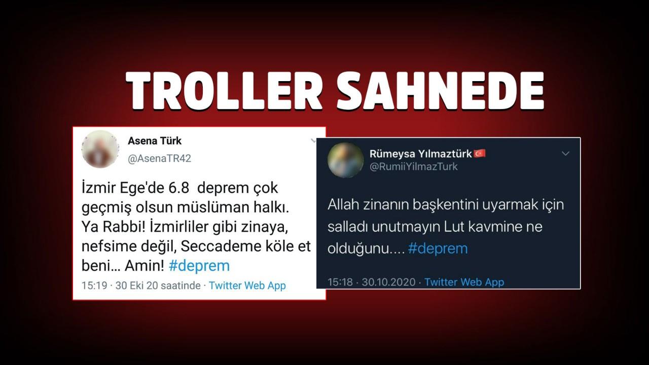 İzmir depreminin ardından sosyal medyada paylaşılan iğrenç mesajlar tepki çekti