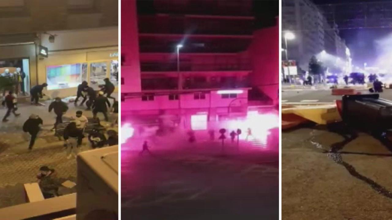 Covid-19 protestoları şiddet olaylarına dönüştü