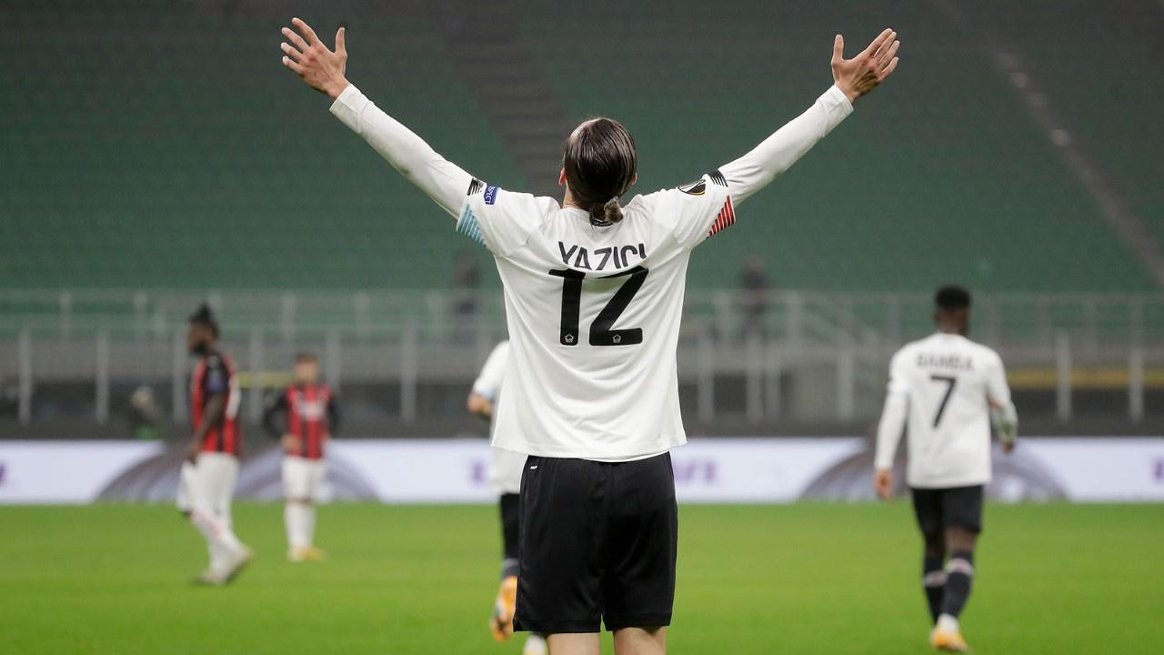 Yusuf hat-trick yaptı Lille, Milan'ı devirdi