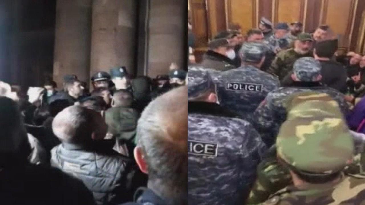 Ermenistan'da hükümet binası basıldı