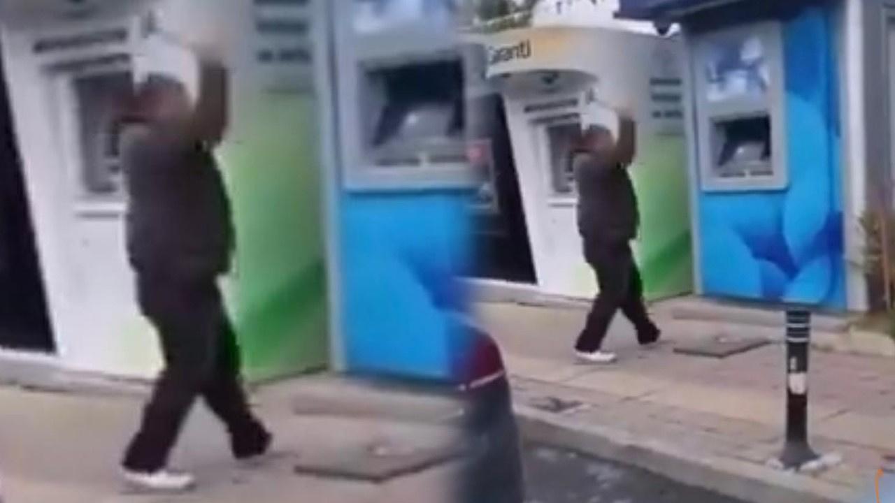 Çekiçle ATM'lere saldırdı!