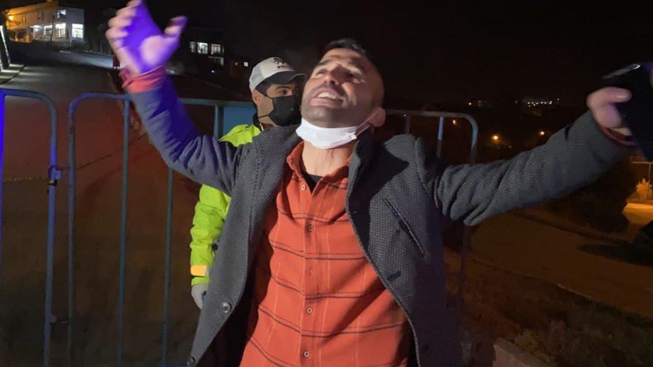 Ceza yiyen alkollü sürücü, türkü söyleyip oynadı