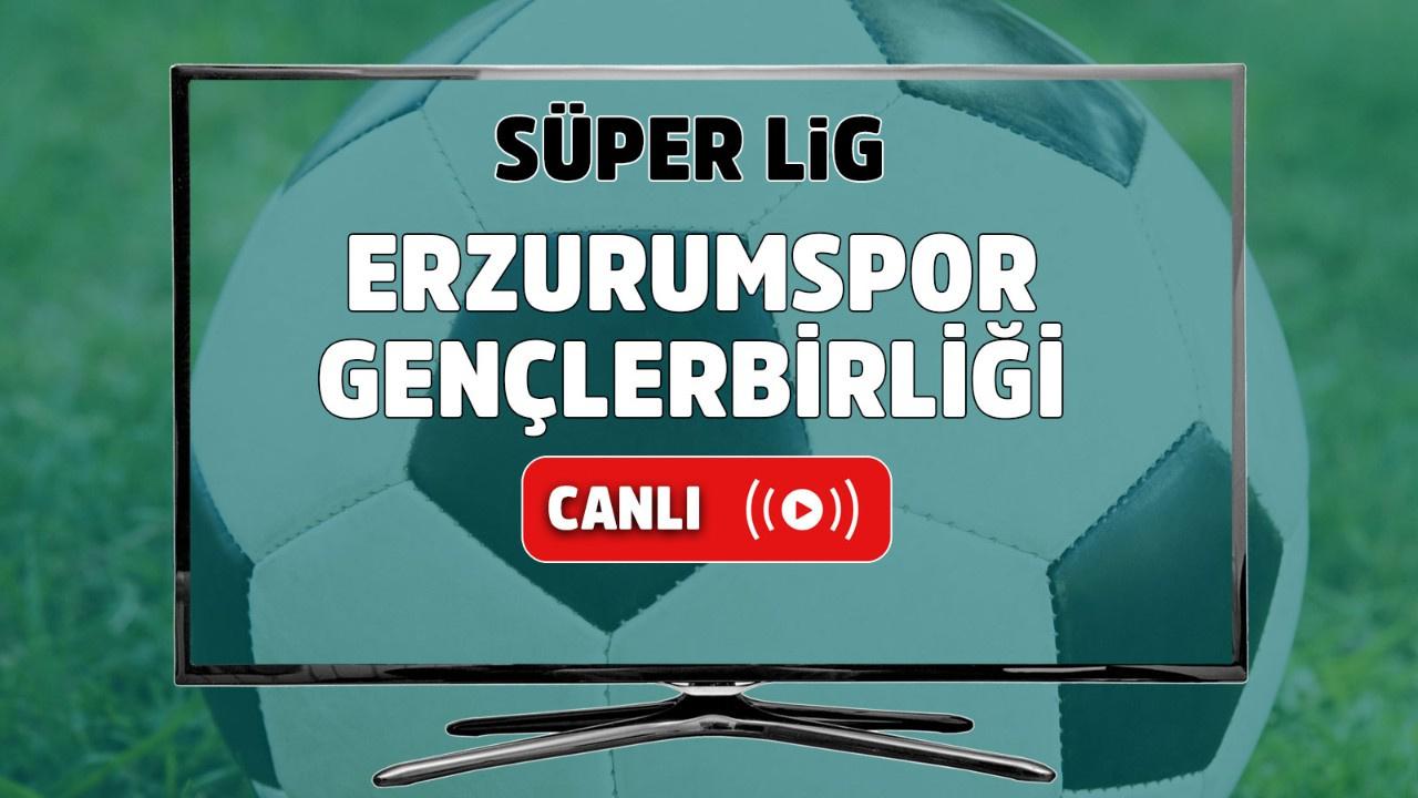 Erzurumspor – Gençlerbirliği Canlı