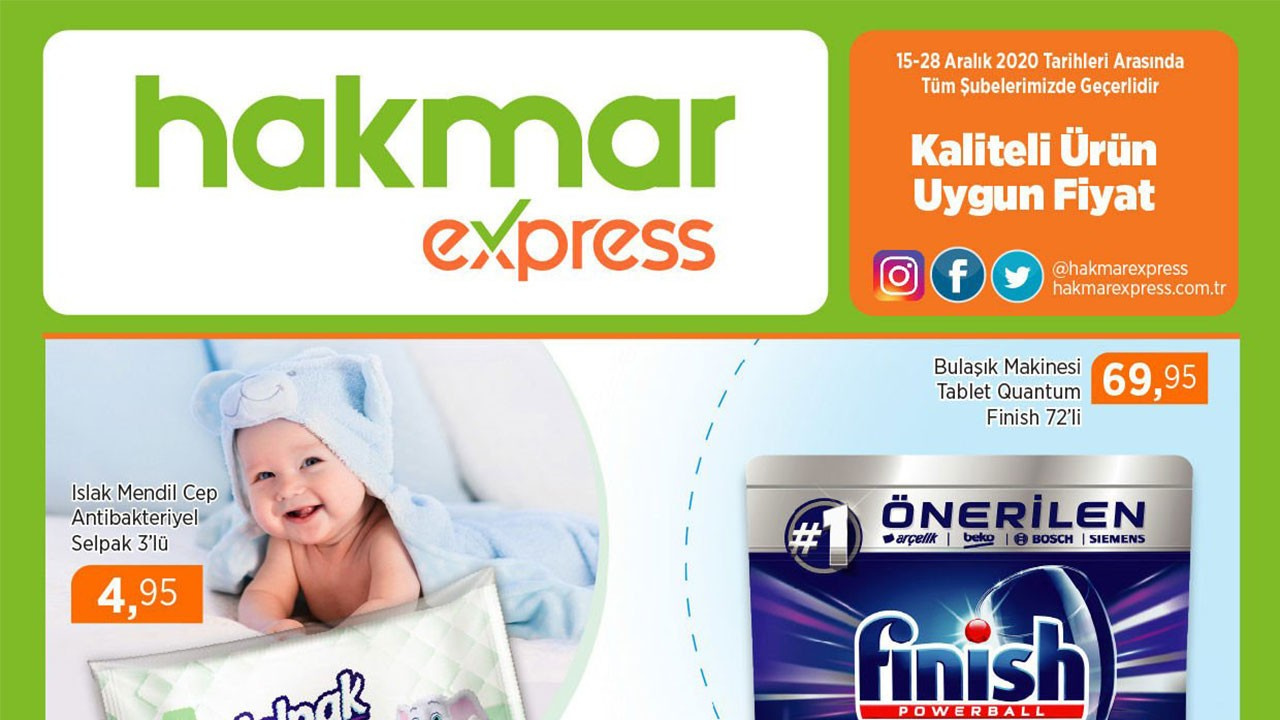 Hakmar Express 15-28 Aralık 2020 aktüel ürünler!
