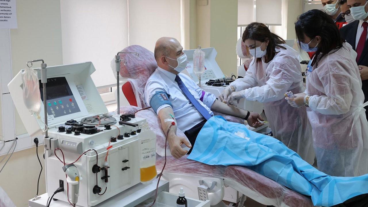 Bakan Soylu, plazma bağışı yaptı