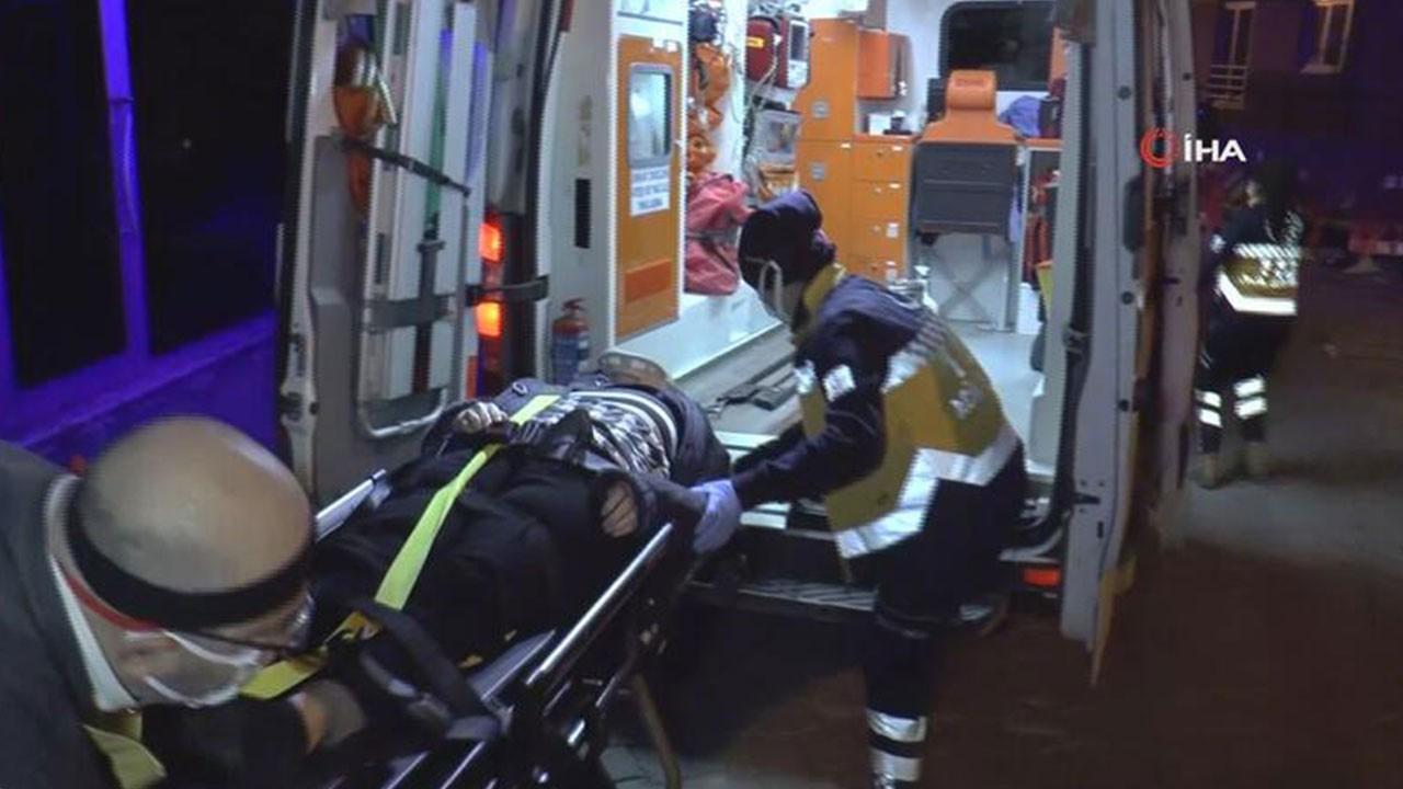 Yaşlı kadın deprem anında 2. kattan düştü