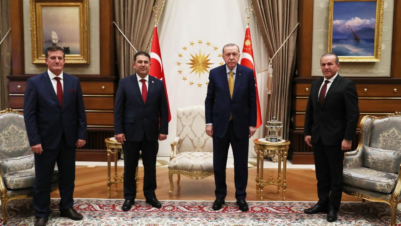 Erdoğan, KKTC Başbakanı Saner'i kabul etti