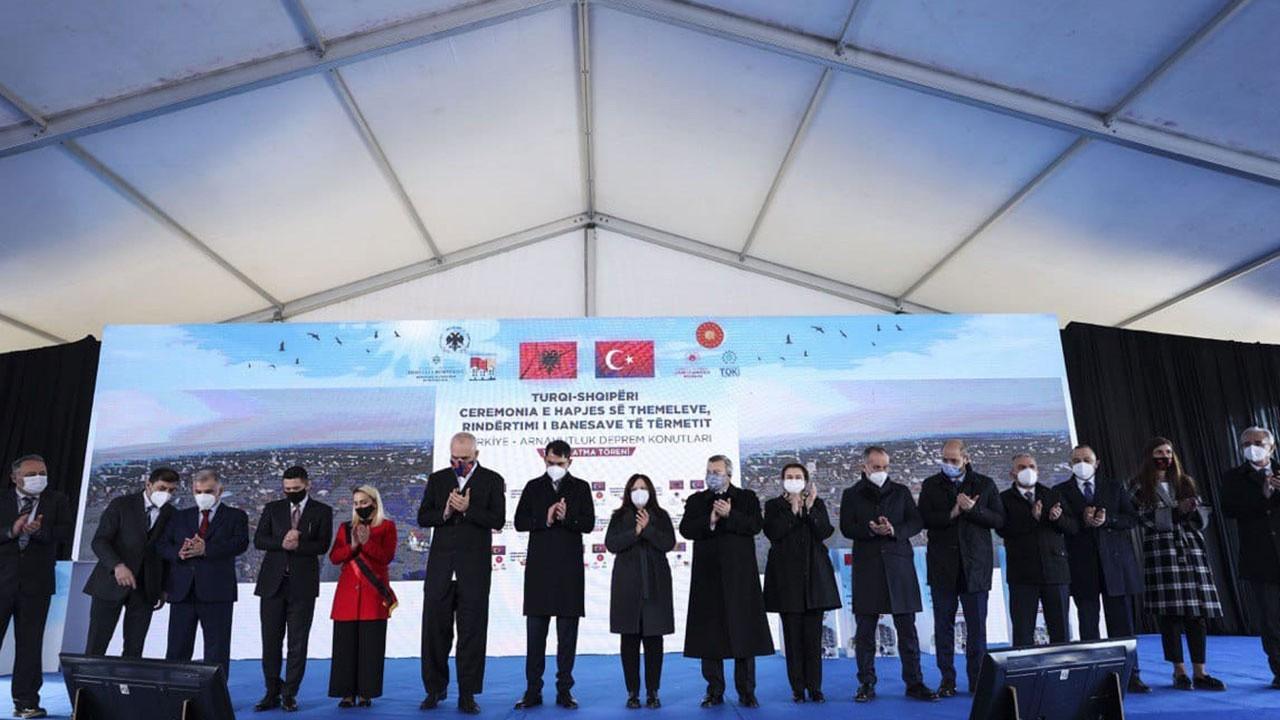 Arnavutluk'ta TOKİ konutlarının temeli atıldı