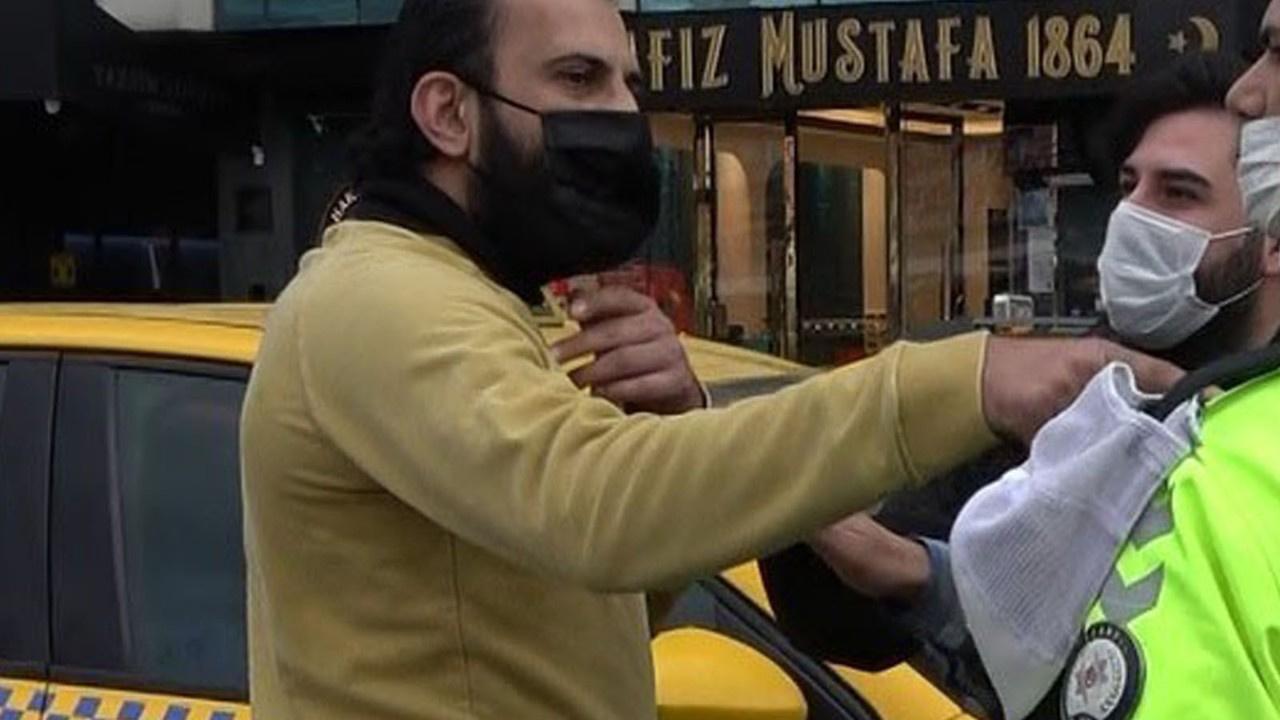 Turist kendisini maske için uyaran polise saldırdı