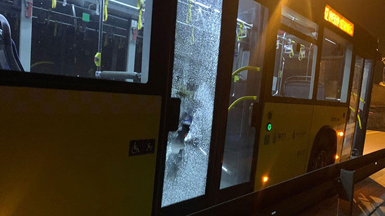 İETT otobüsüne saldırı