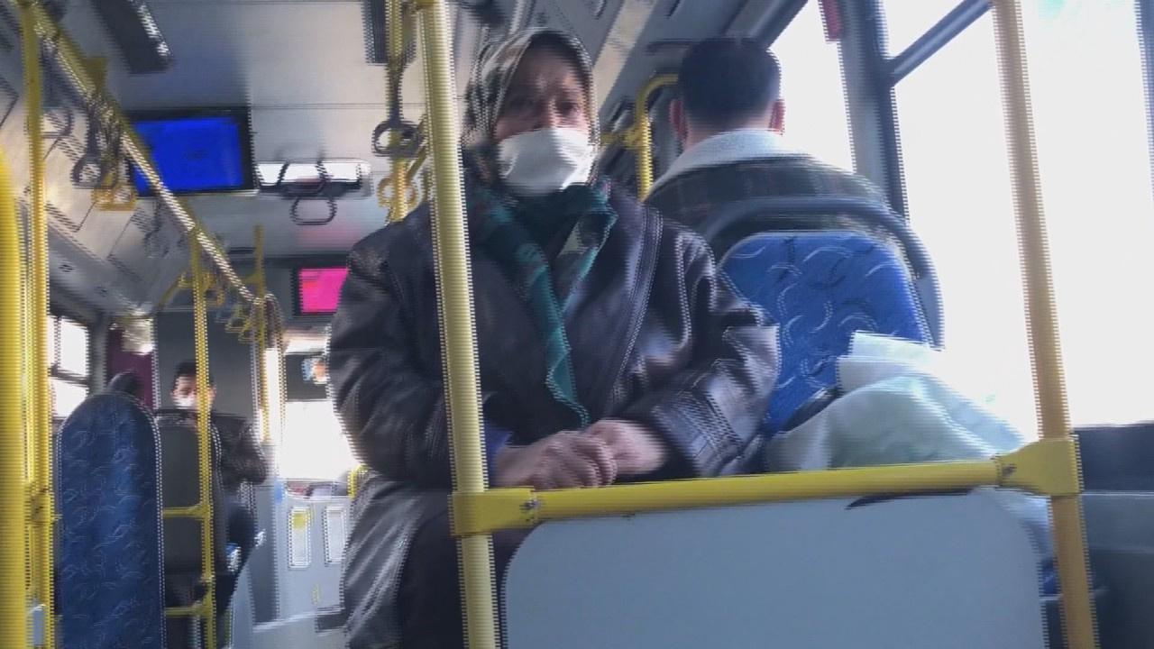 """""""Benim sağlığım yerinde"""" dedi... Otobüsten inmedi!"""