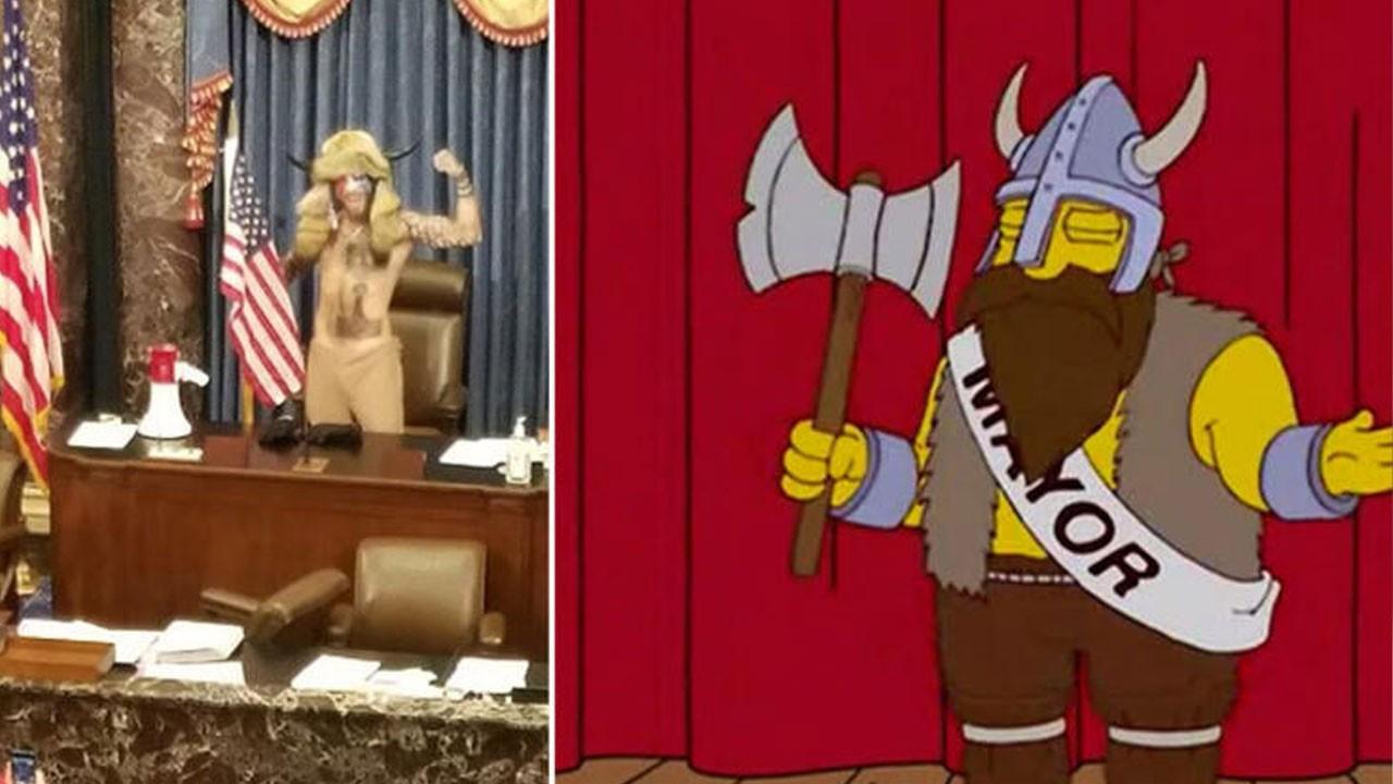 Simpsons dizisi Amerikan darbesini de bildi
