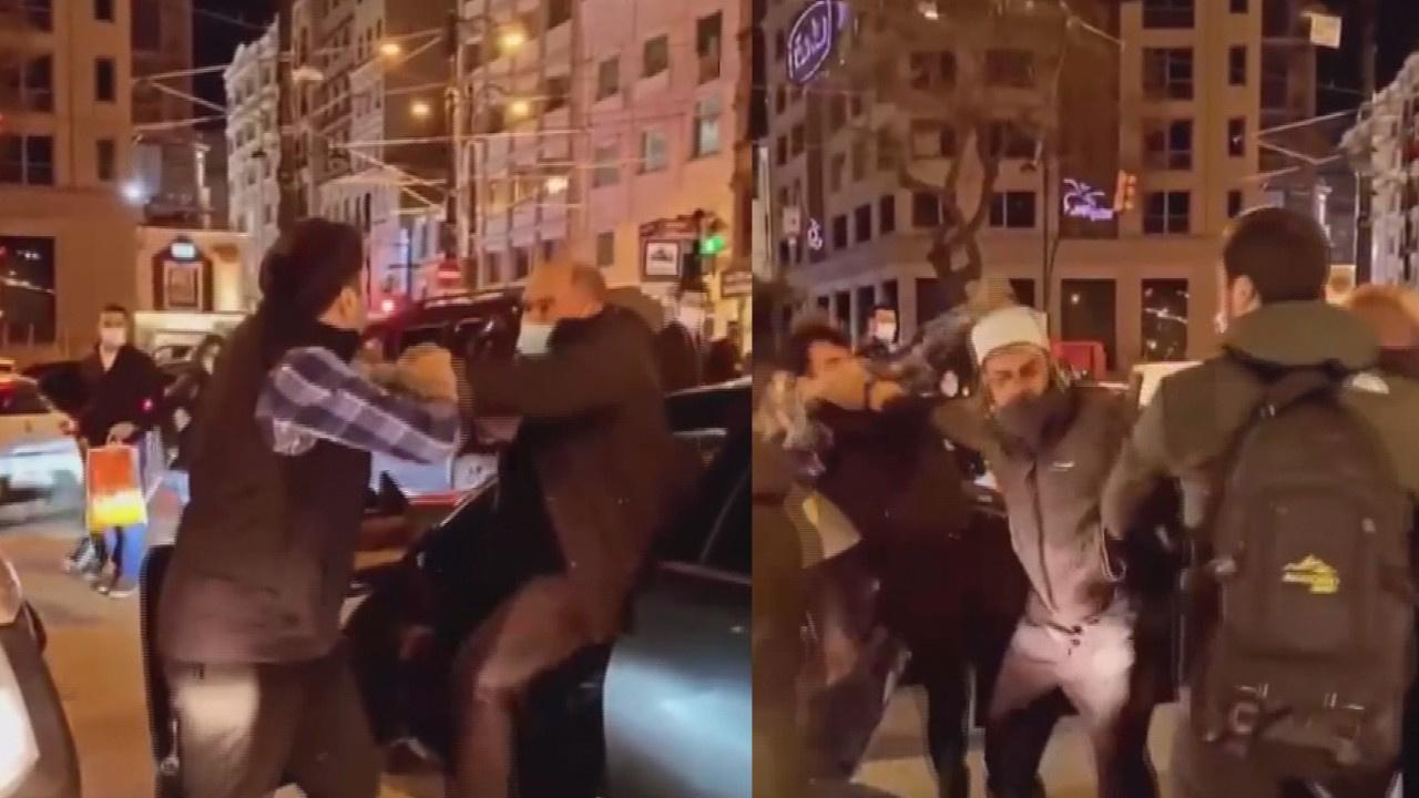 Yer: Sirkeci... Trafikte tekmeli tokatlı kavga!