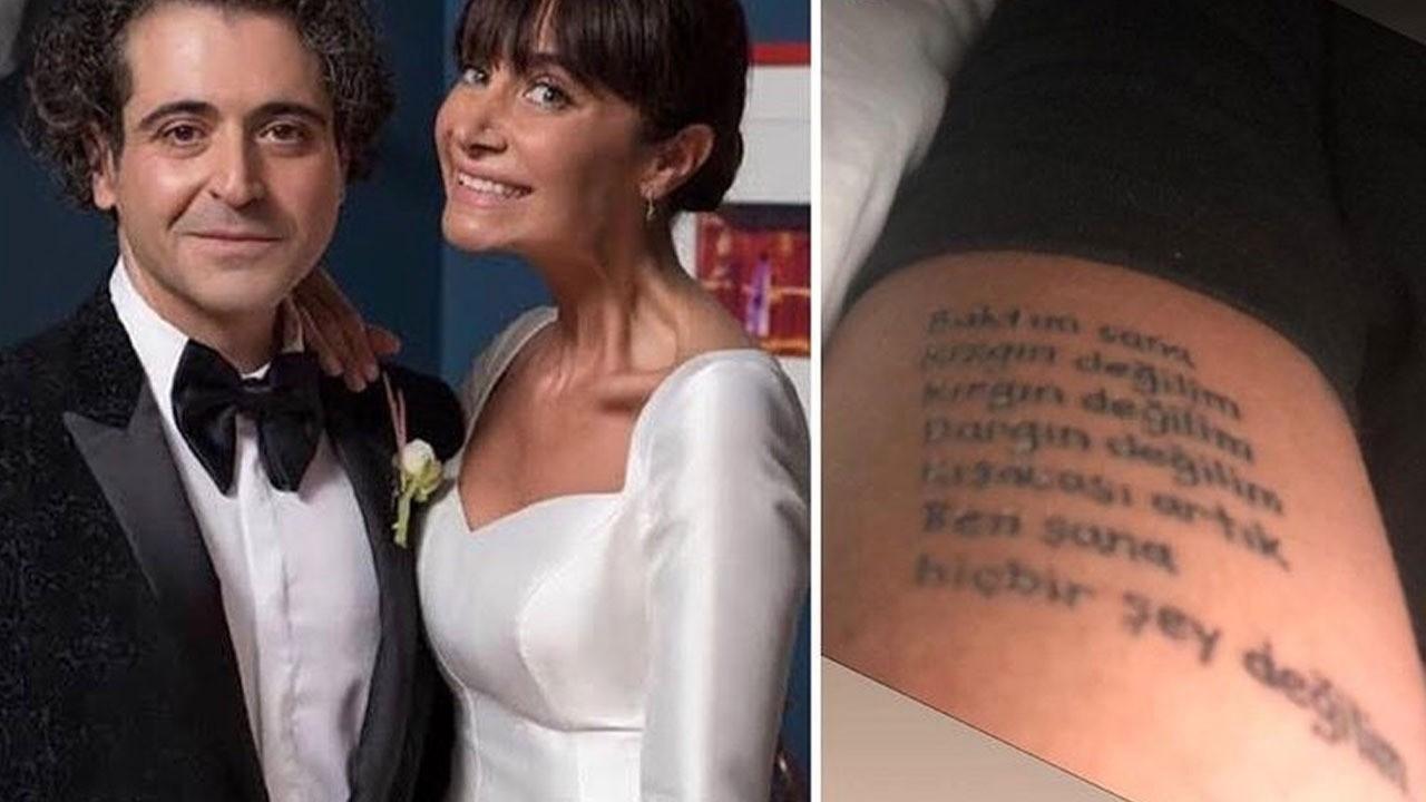 Sıla'dan boşanan Hazer Amani'nin dövmesi şaşırttı!