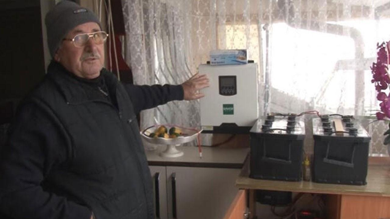 8 yıldır elektriğe para vermedi! Kurduğu sistem...