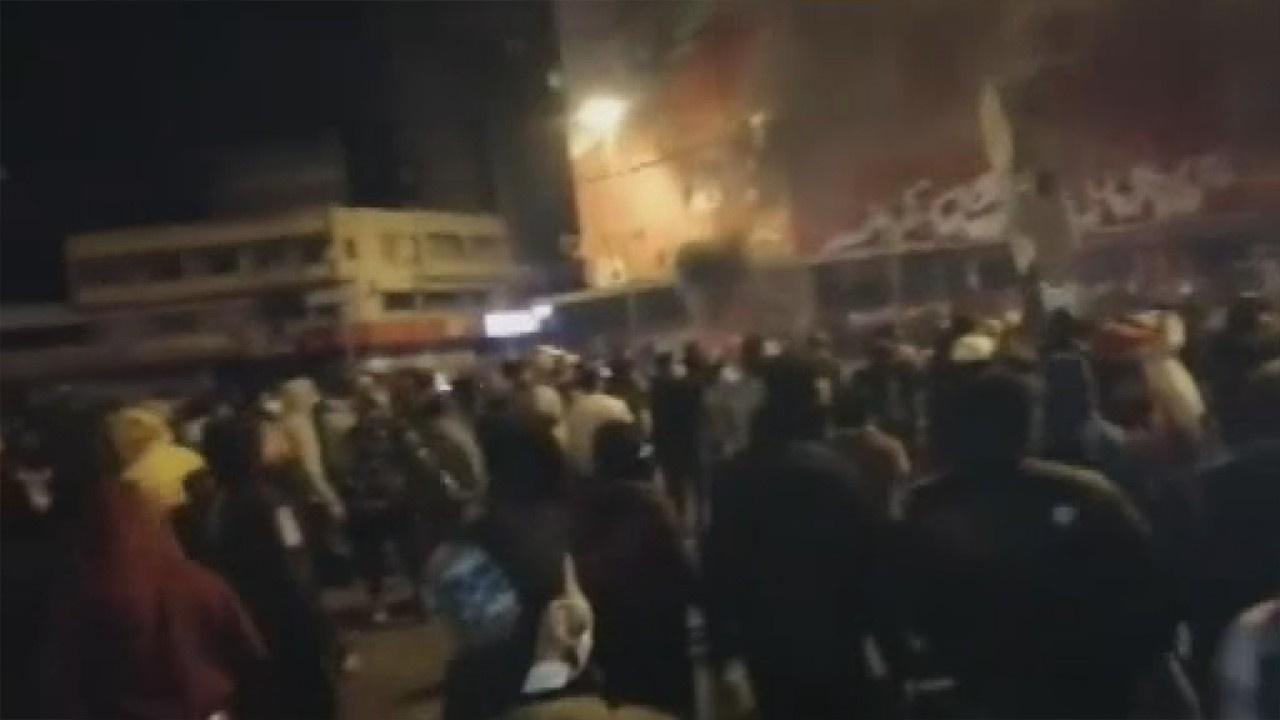 Lübnan'da sokağa çıkma yasağı protestosu