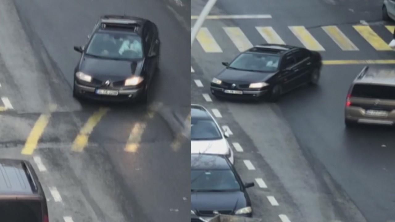 Sultangazi'de trafik magandası kamerada