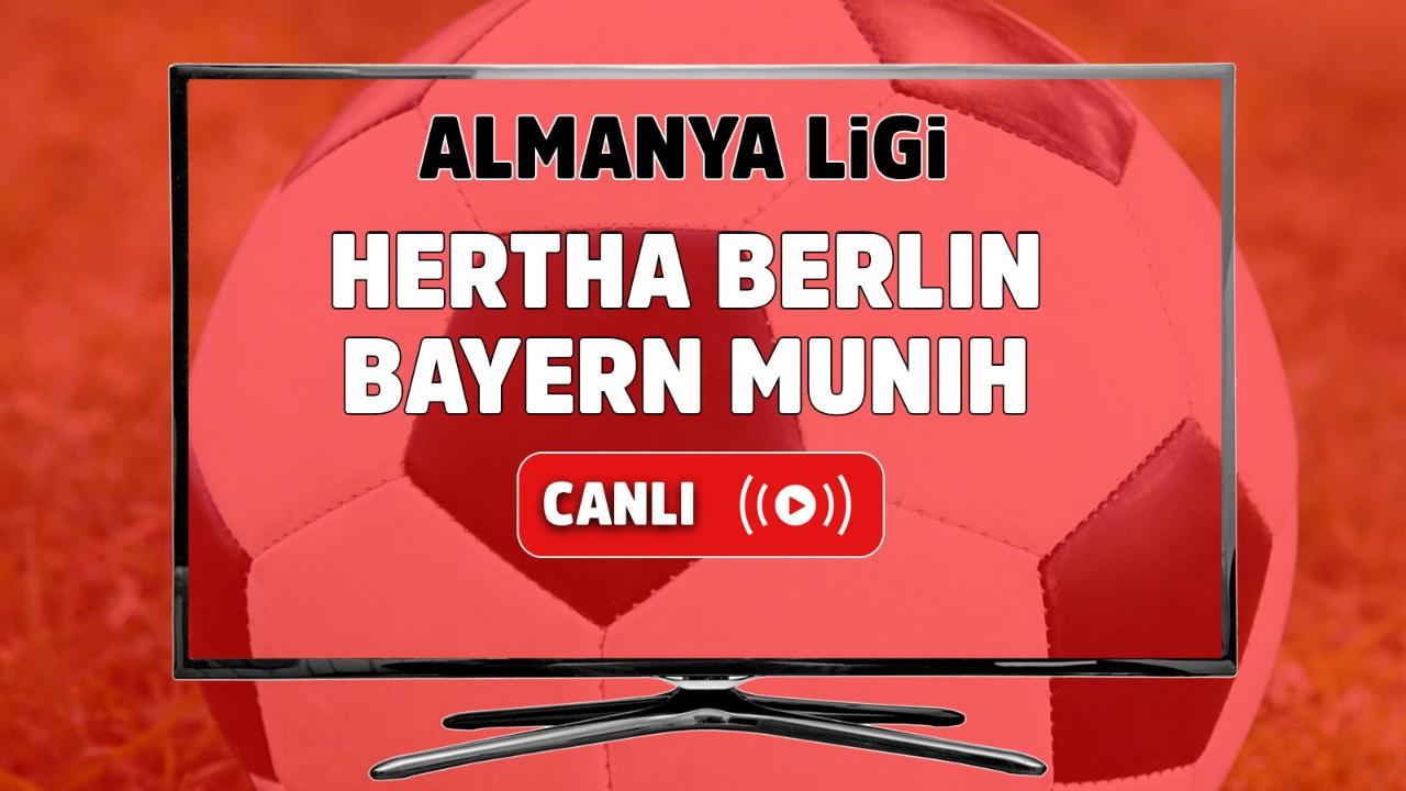 Hertha Berlin – Bayern Münih Canlı