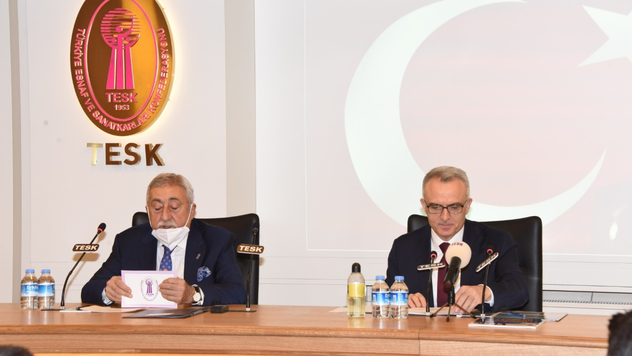 TCMB Başkanı Ağbal, TESK'i ziyaret etti