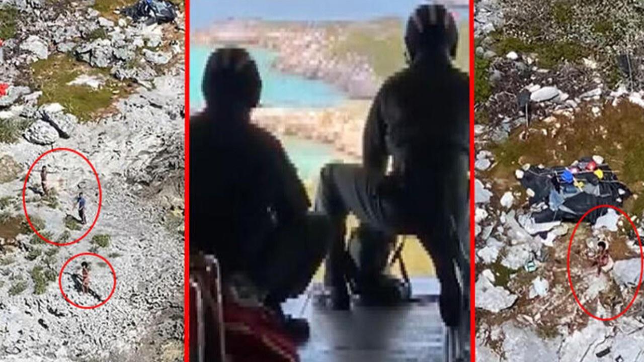 Issız adada mahsur kaldılar! Günler sonra...