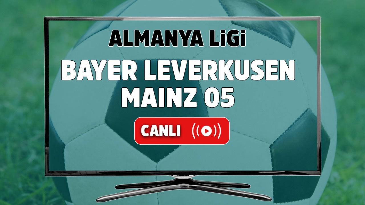 Bayer Leverkusen – Mainz 05 Canlı