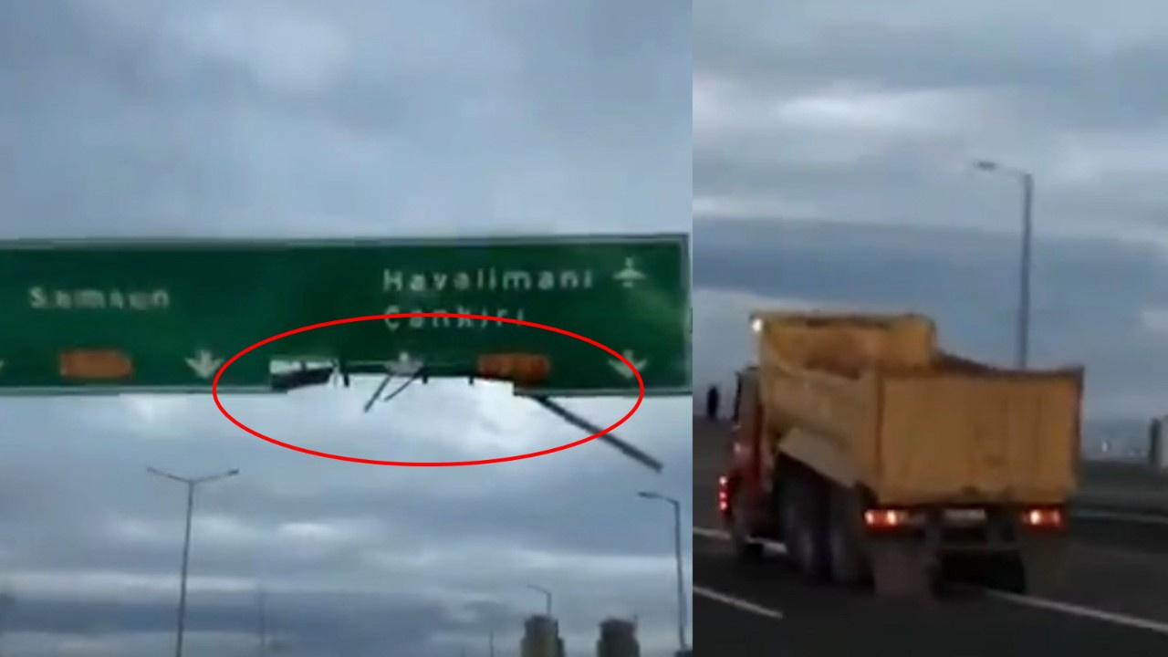 Trafikte dehşet saçan kamyon şoförüne ceza yağdı