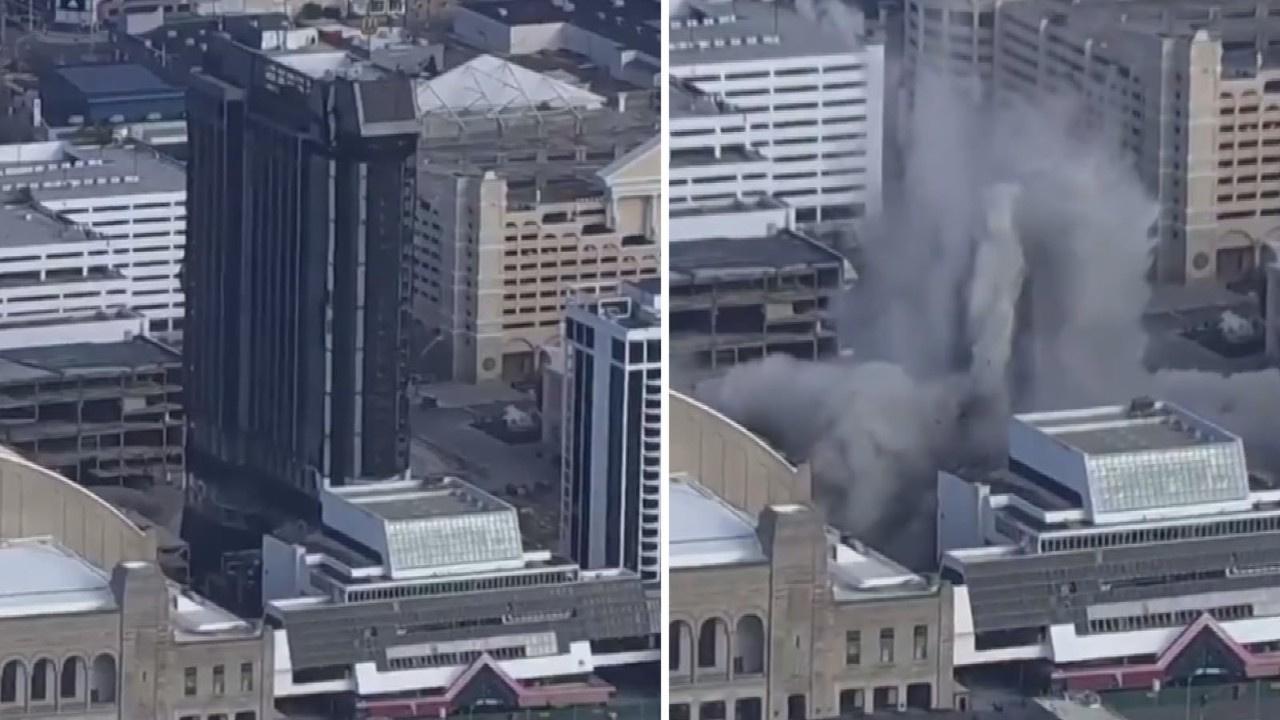 Trump'ın oteli saniyeler içinde yıkıldı