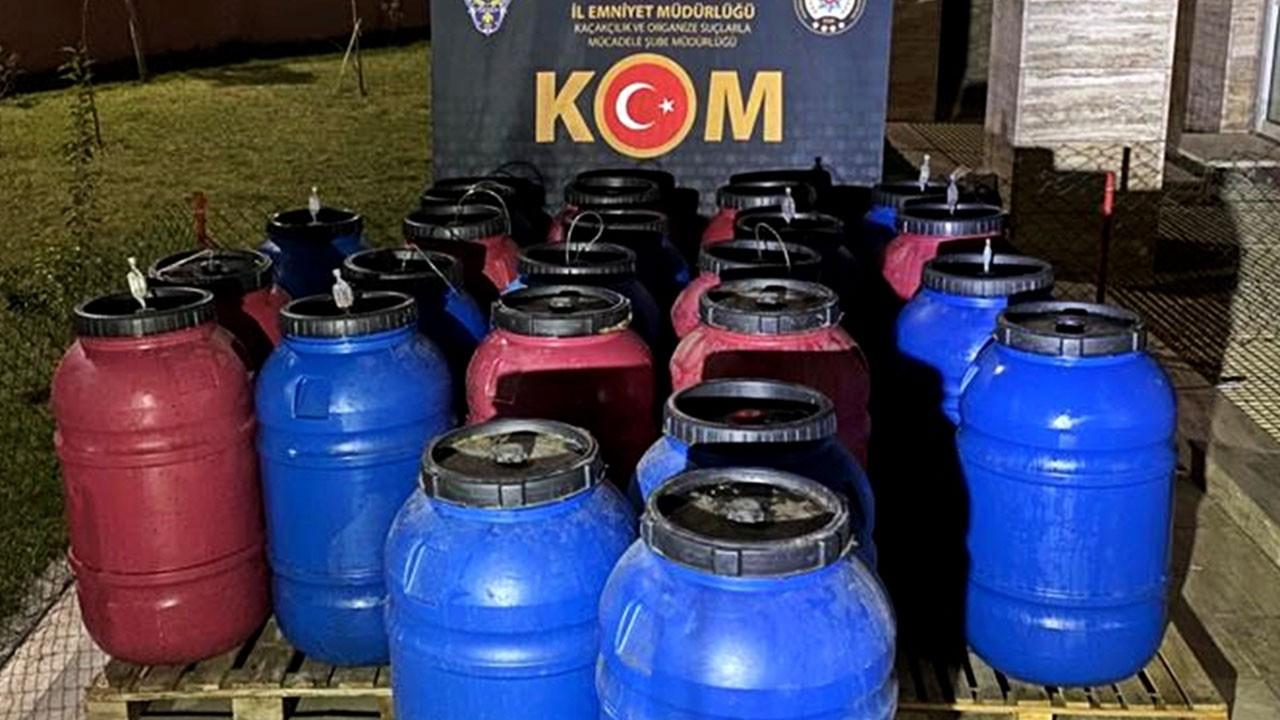 Manisa'da sahte içki baskını! Tam 3 bin 615 litre