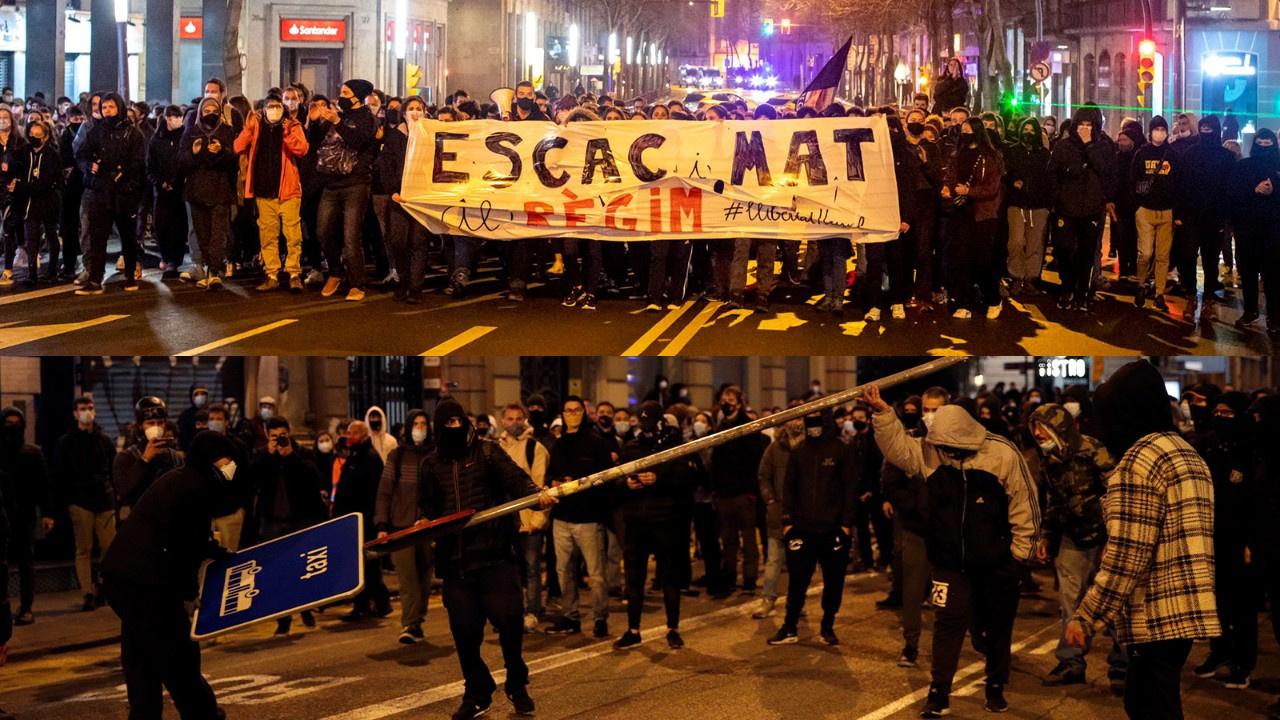 İspanya'da rapçi Hasel protestoları 6'ıncı gününde