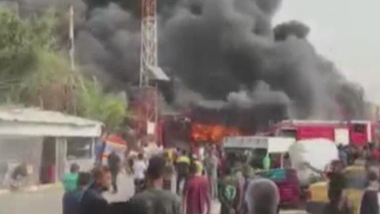 Bağdat'ta ticaret merkezinde dev yangın