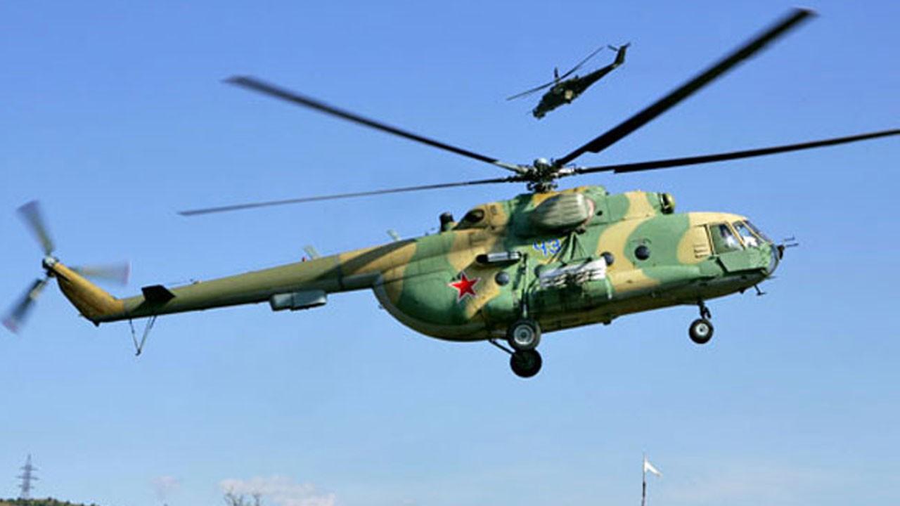 Askeri helikopter düştü!.. Çok sayıda ölen var!