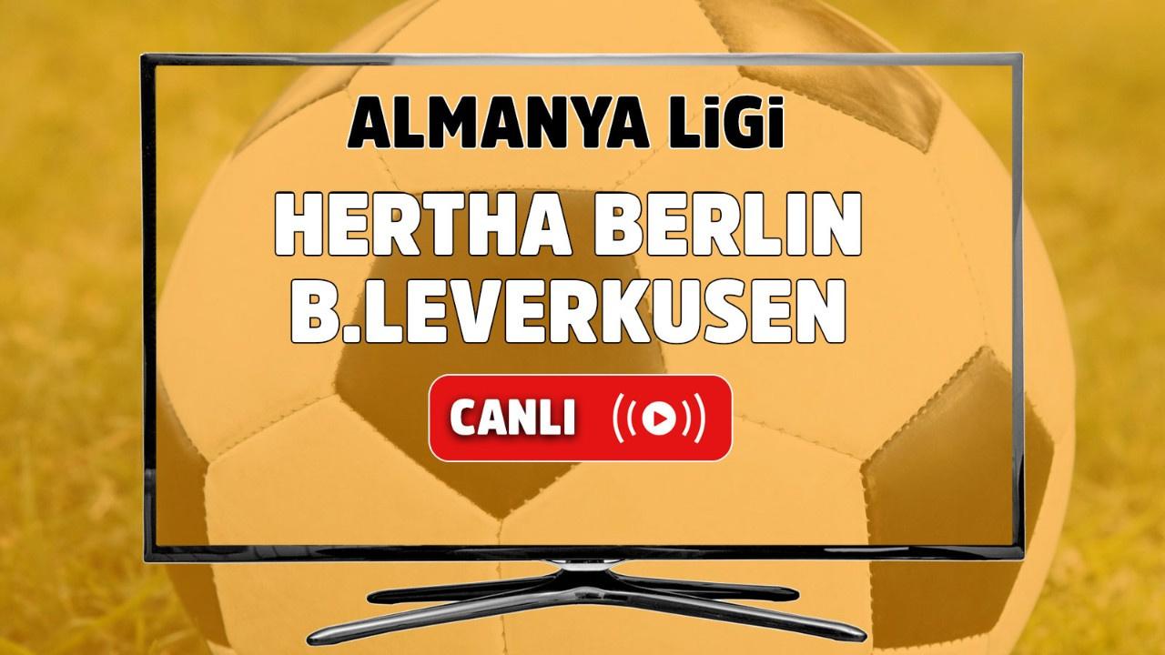 Hertha Berlin – Bayer Leverkusen Canlı