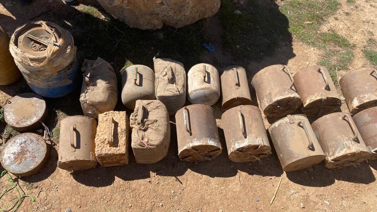 Terör örgütüne darbe: Yüzlerce kilo patlayıcı...