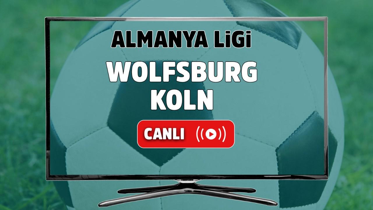 Wolfsburg – Köln Canlı