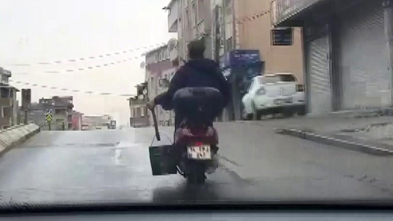 """Motosiklet ile """"seri köz getir"""" yolculuğu"""