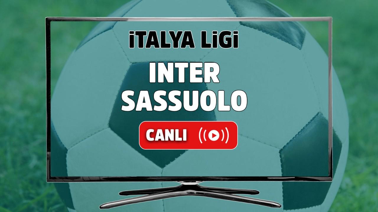 Inter - Sassuolo Canlı